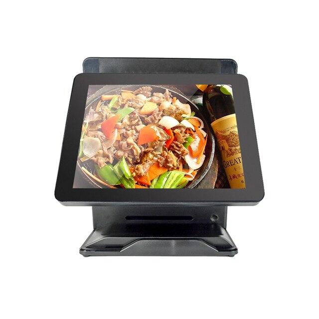 Système de point de vente de haute qualité pour les revendeurs, double écran 15 + 15, machine de point de vente et terminal, caisse enregistreuse électronique 1