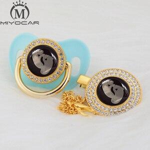Image 5 - Милая Золотая, серебряная, красивая, золотая, блестящая Соска пустышка миокар без бисфенола А