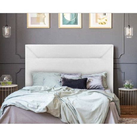 Headboard Flow White Or Chocolate 150 Cm Wide