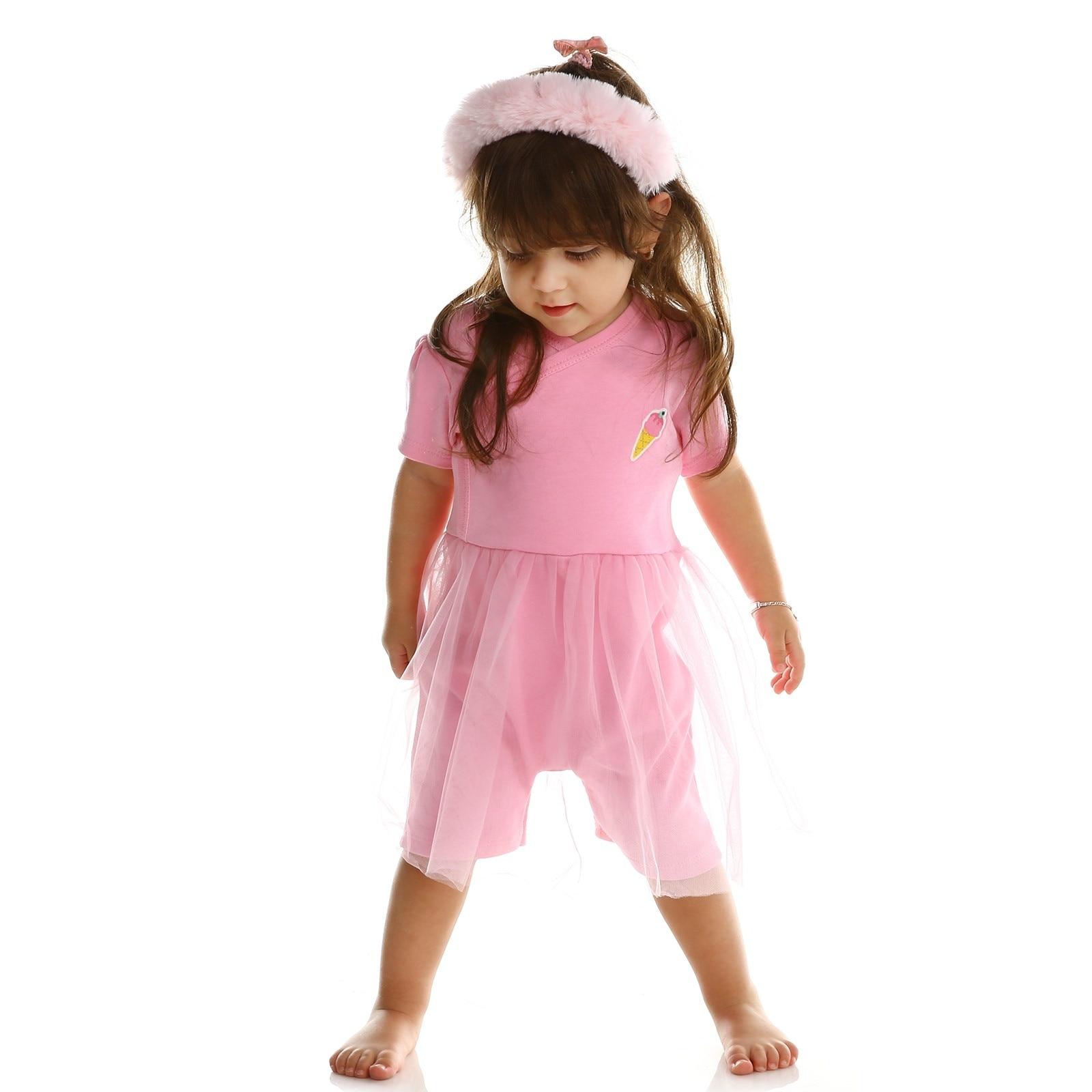 Ebebek HelloBaby Summer Baby Sweet Fruits Tulle Dress