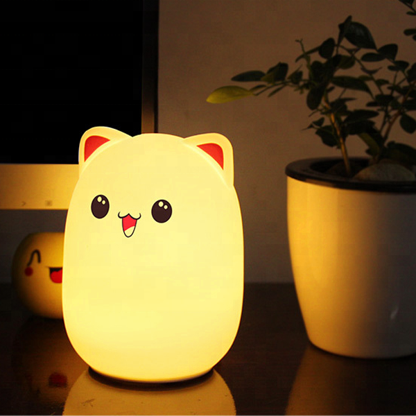 LED Night Light For Children Baby Kids Bedside Lamp Children Toy Animal Bedroom Decor Lighting Birthday Gift