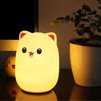 LED Night Light For Children Baby Kids Bedside Lamp children Toy Animal Bedroom Decor Lighting birthday gift