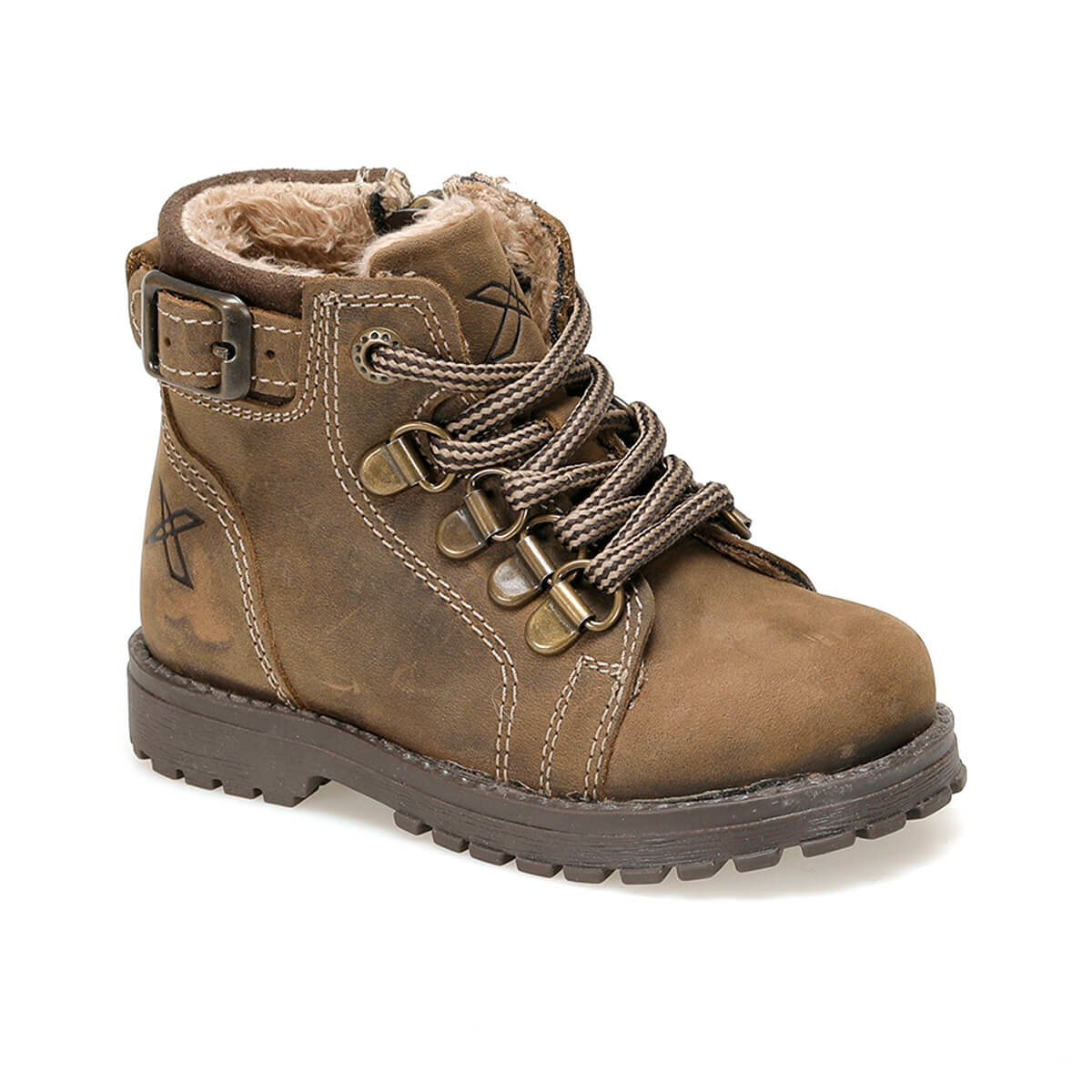 FLO SARDONE LEATHER 9PR Sand Color Male Child Boots KINETIX