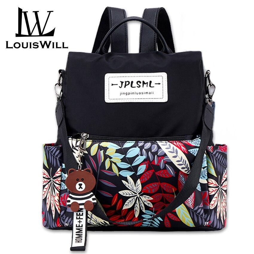 LouisWill Women Backpacks Anti-theft Shoulder Bags Korean Style Travel Bags School Bags Waterproof Oxford Daypacks Back Packs