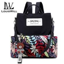 LouisWill Women Backpacks Anti-theft Shoulder Bags Korean St