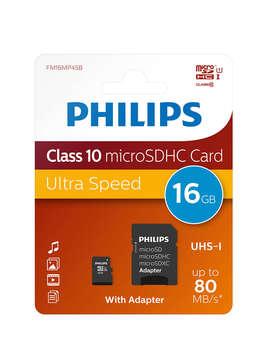 Philips Micro SD SDHC C10 - Tarjeta de Memoria GB 16