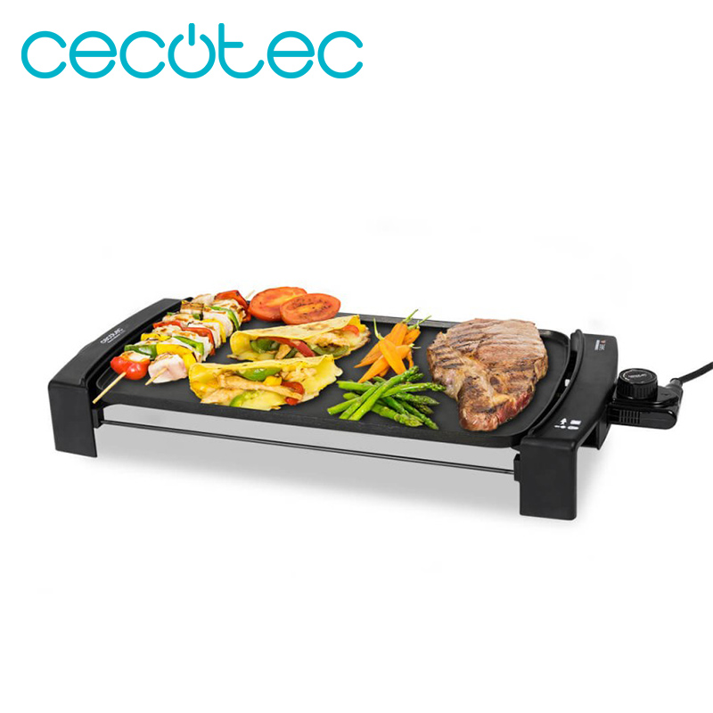 Cecotec Black & Water 2500 Electric Cooking Roasting Iron Daikin Coating Ensures Maximum Non-Stick Adjustable Temperature