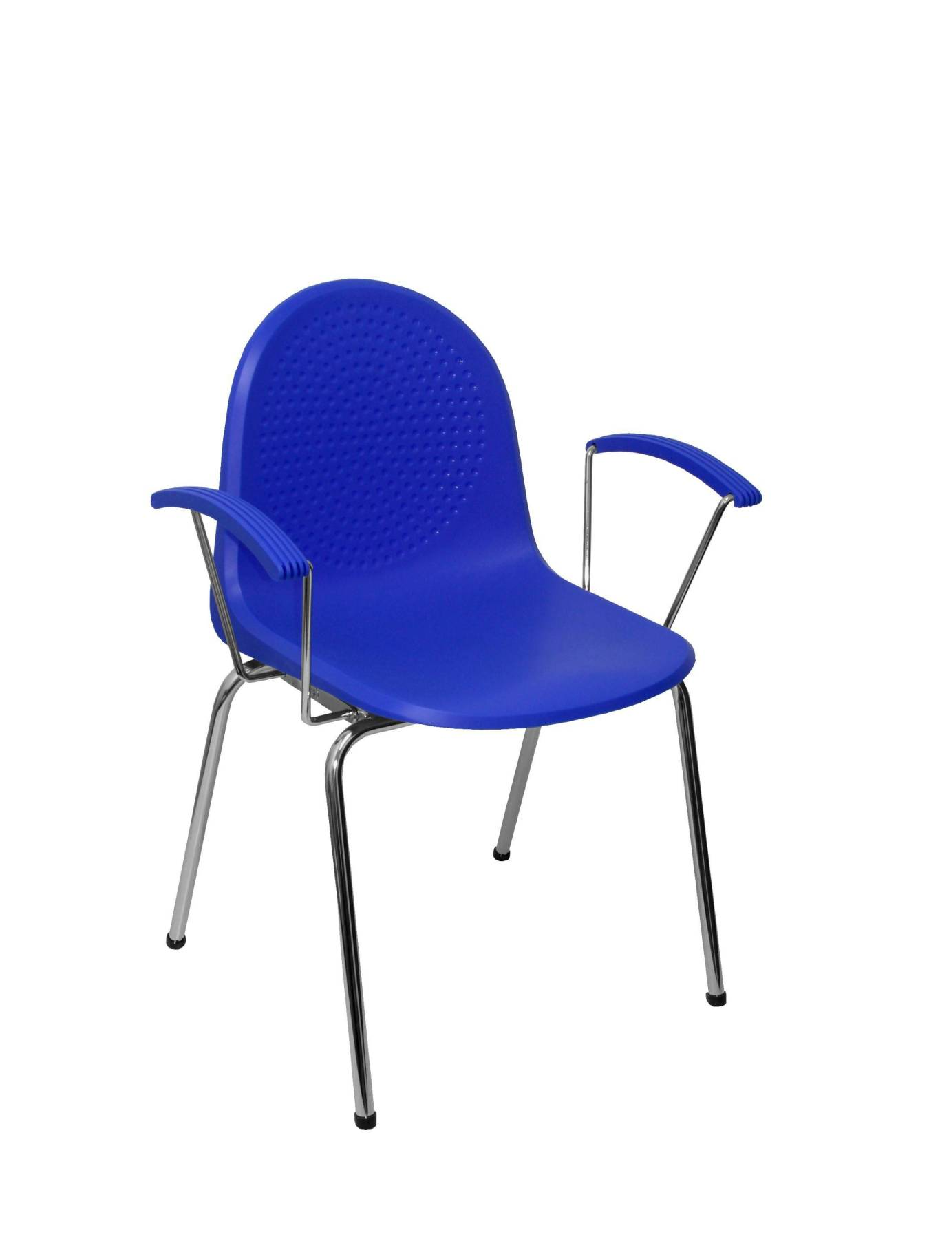 Visitor Chair Desk Ergonomic With Arms Fixed Chrome And Plastic Chrome Bold Up Seat And Backstop Structure Color AZ