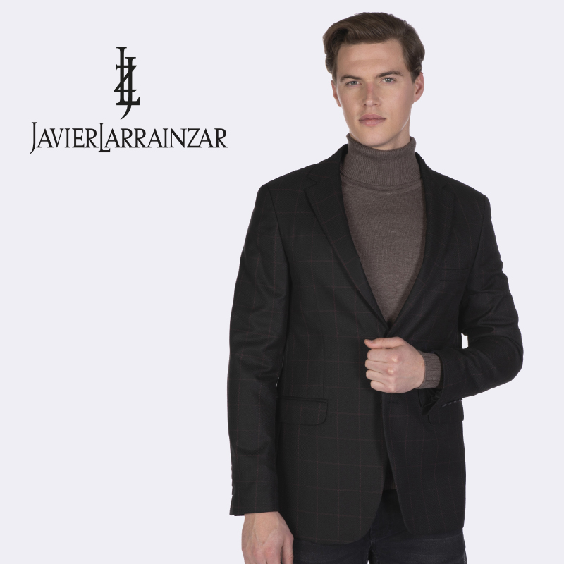 Javier Larrainzar-Blazer JL19021-Jacket's Men Elegant Brown
