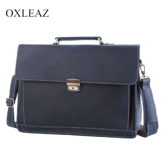 Men 'S Classic Briefcase Genuine Leather OXLEAZ OX6393