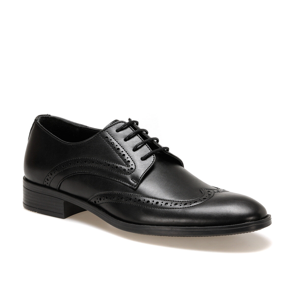 FLO 113-5 Black Men Dress Shoes DOWN TOWN