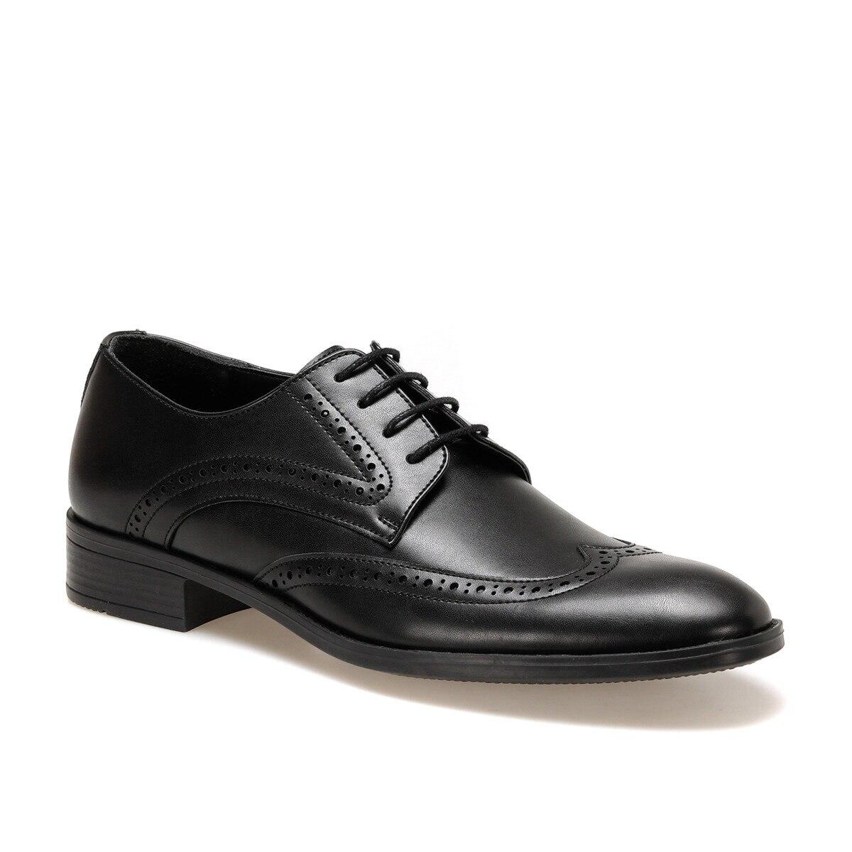 FLO 113-5 Black Men Dress Shoes DOWN TOWN