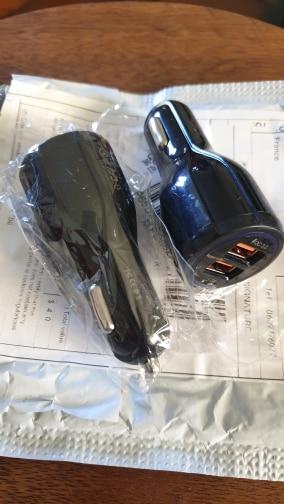 Chargeur de voiture USB double universel, pour iphone