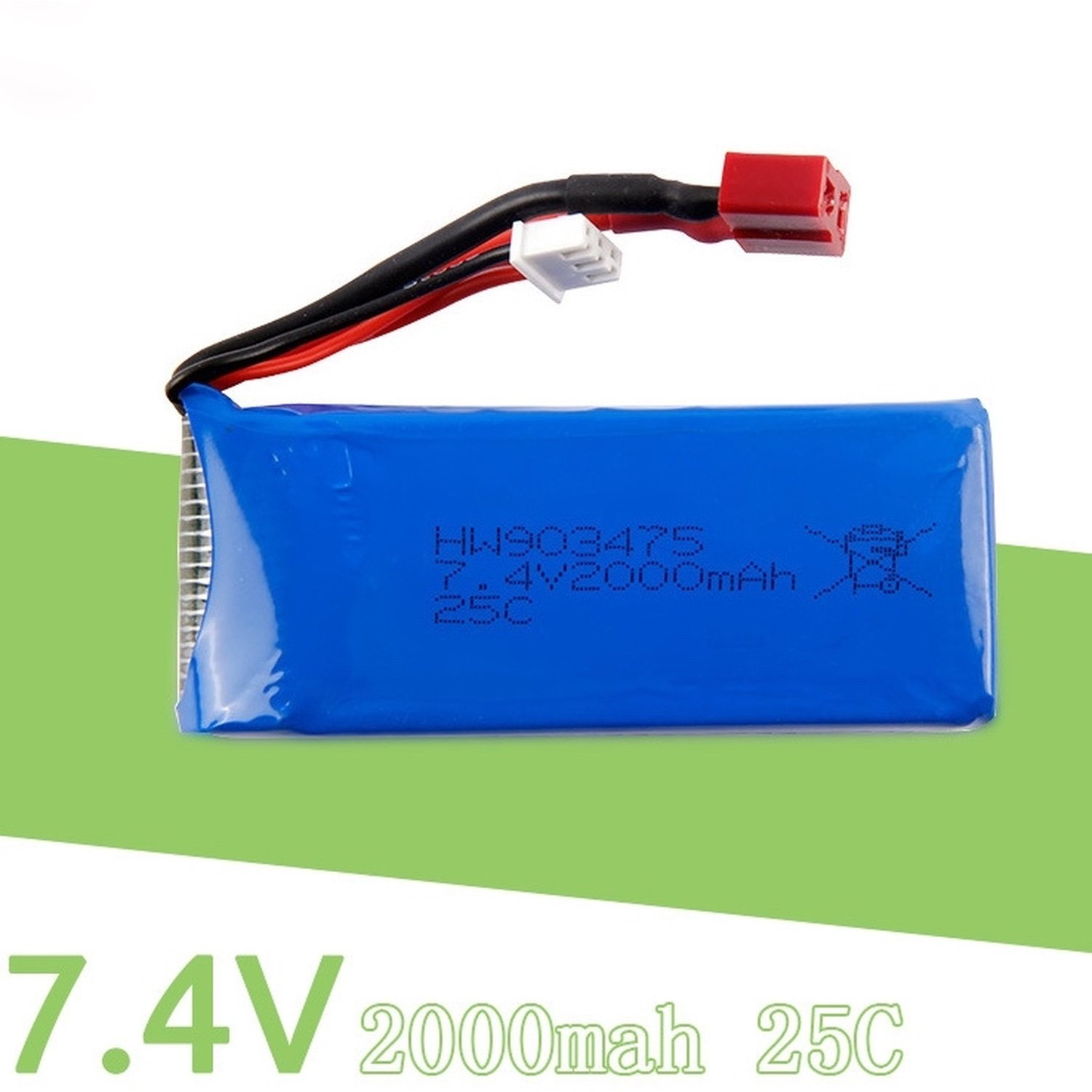 SYMA X8W/X8C/X8SW Battery-7, 4v 2000 mah, 25C 7 4v 850mah supply of remote control aircraft flying saucer axis lithium battery 7 4v 850mah 20c jst plug 703048