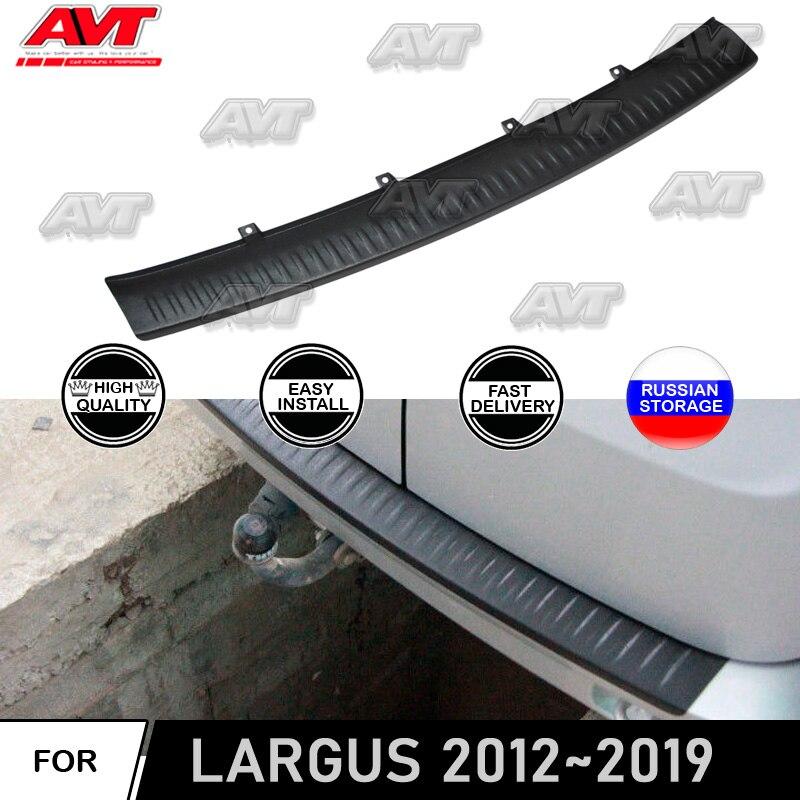 Para lada largus 2012 2019 placa de proteção no amortecedor traseiro sill estilo do carro decoração plástico abs scurf painel acessórios
