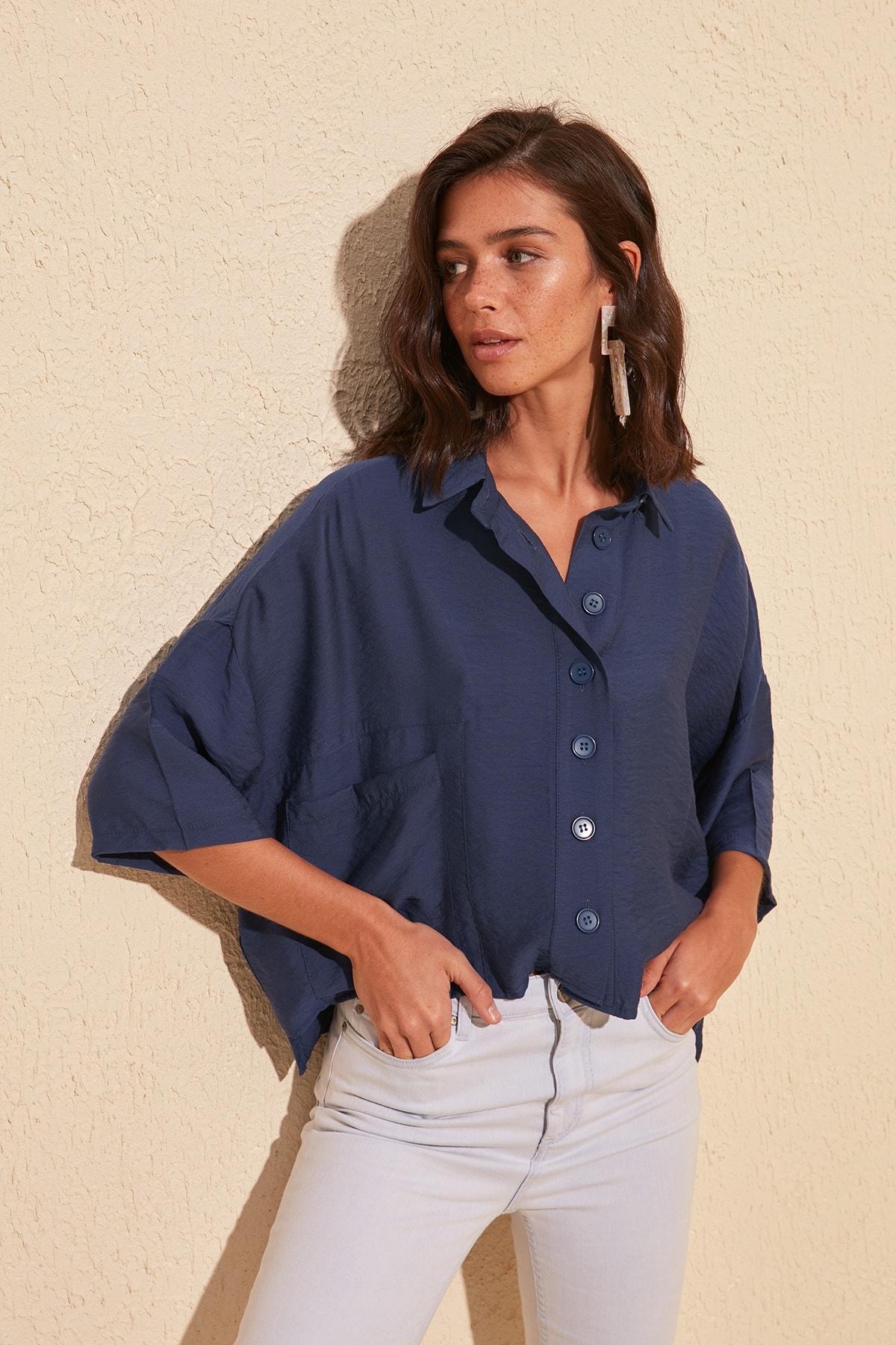 Trendyol Pocket Detail Shirt TWOSS20GO0381
