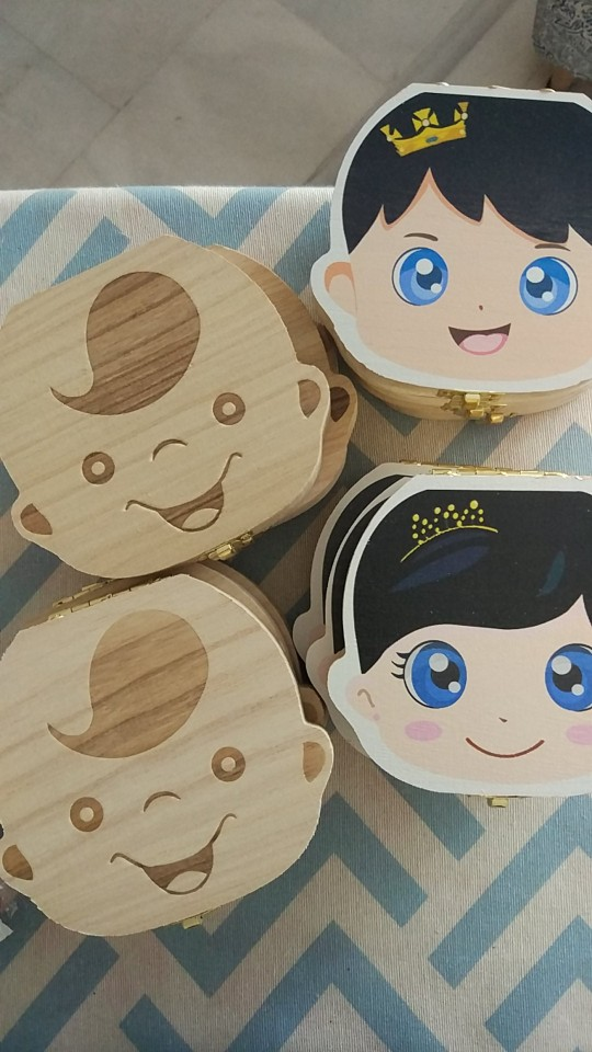 Baby Wooden Milk Teeth Box (Multi-language) photo review
