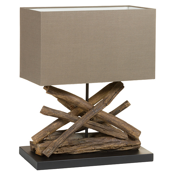 Desk Lamp Acacia (40 X 28 X 58 Cm)