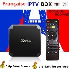 France IPTV X96 Mini Android tv box 1 Year neo tv pro subscription 1300+Live Europe French Belgium arabic Iptv m3u Smart tv Box цена 2017