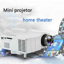 Mini projetor led de home theater uc28c +, mini projetor hd para home theater, mini projetor portátil de 1080p onleny white