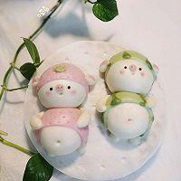 草莓猪&西瓜猪的做法图解28