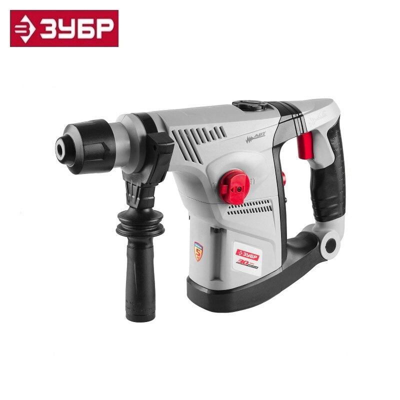 Perforator SDS-plus, ZUBR ZPV-30-900 VK, vertical, ABT-anti-vibration system, 4.2Dzh, 750ob / min 2800ud / min and 5.6kg, 900W rotary hammer zubr zpv 30 900 vk