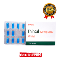 Thincal 120 mg Orlistat 84 Tablets Slimming Product No Diet No Cellulite Bio Herb Natural Fat Remover Burner Detox Capsule