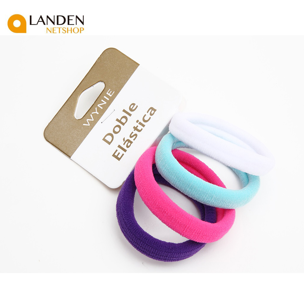 4 Pcs/lot Hair Accessories For Baby Girls New Black Rubber Bands Multicolor The Tail Support Elastic