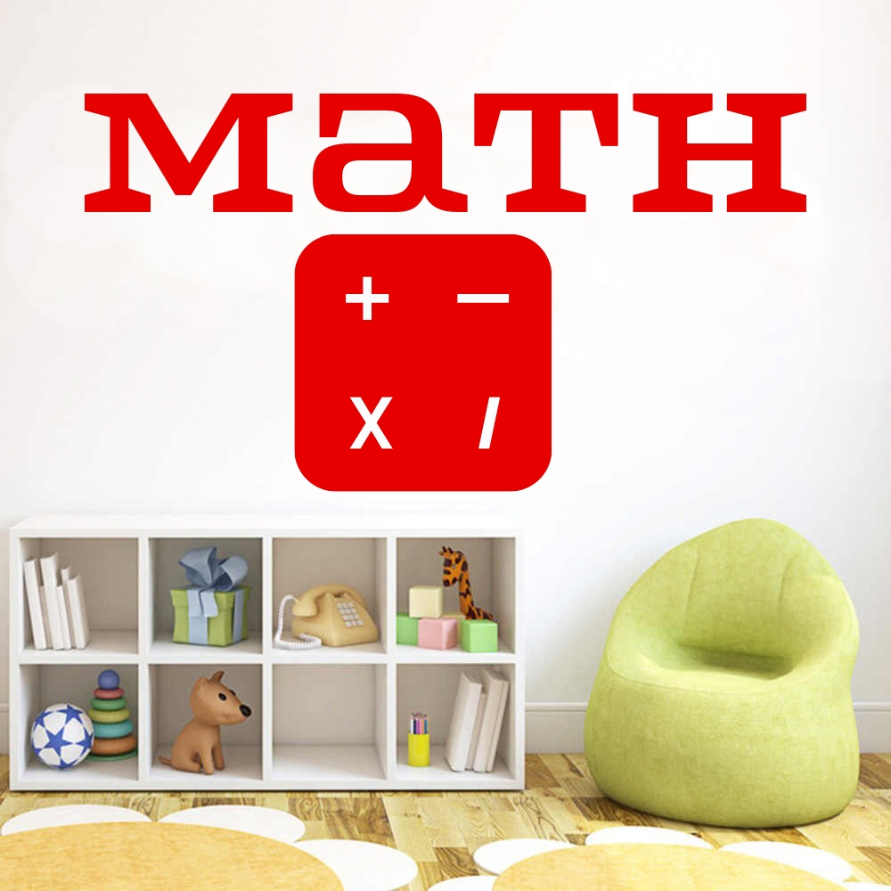 NE New Cartoon Multiplication Table PVC Removable Wall Sticker DIY Kid Room Deco