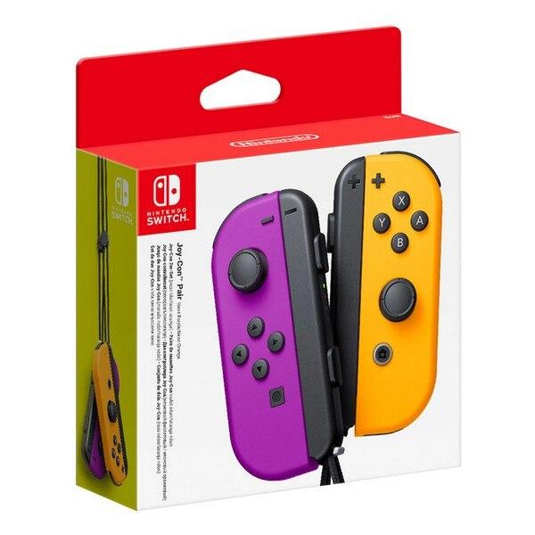 Wireless Gamepad Nintendo Joy Con Purple Orange|Stands| |  - title=