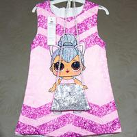 Dress LOL doll for girls Princess LOLs rose with two piece of silver with sequins