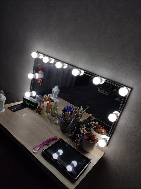 -- Lâmpadas Carregamento Maquiagem