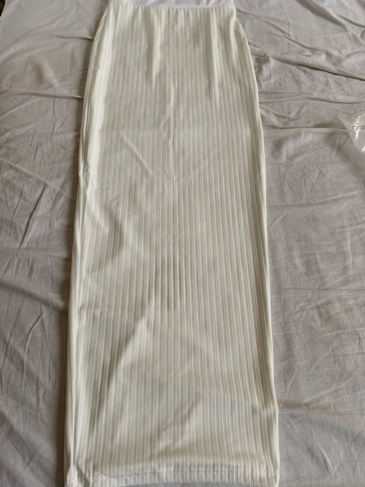 Articat Halter Backless Sexy Knitted Pencil Dress Women White Off Shoulder Long Bodycon Party Dress Elegant Summer Dress 2020 reviews №1 485504