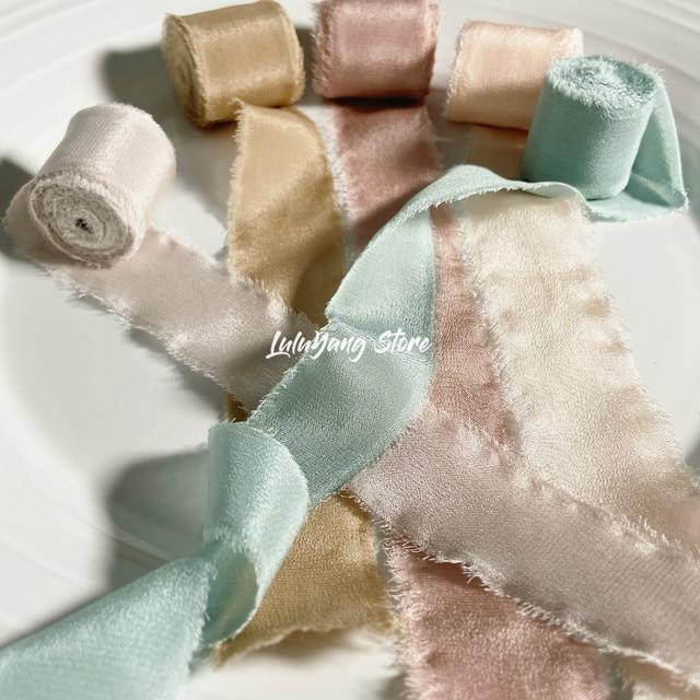 Фото лента из натурального чистого шелка с вышивкой сатин хлопок цена