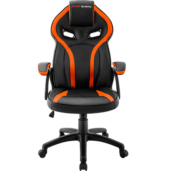 Chair Gamer Mars Gaming Mgc118bo Black Color With Detail In Orange Up Seat Recliner Recubrimento Pu High Quality