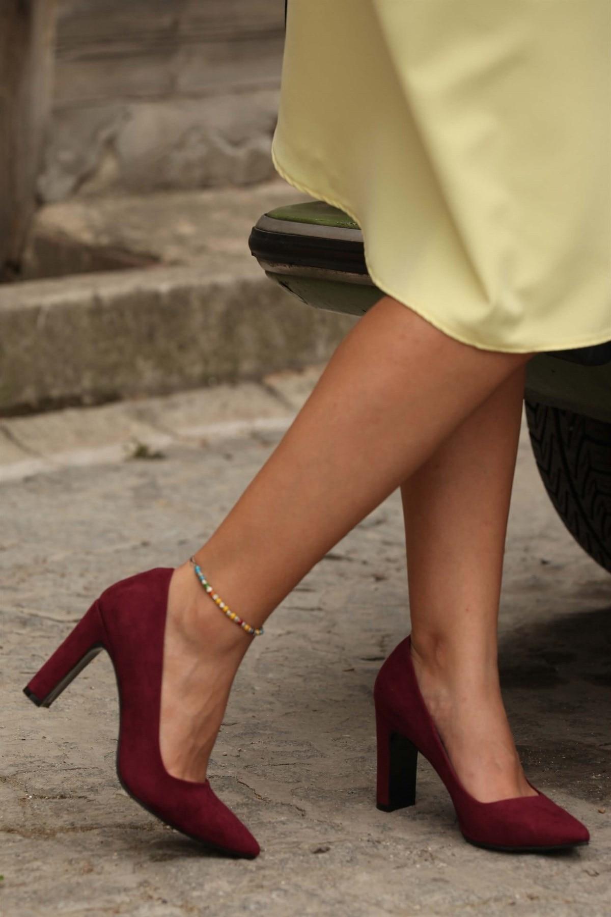 DE ABRIL DE Borgoña Stiletto Slip-en Punta dedo del pie verde púrpura tacones mujeres Sexy atractivas zapatos ZUECO ARMONIAS TACÓN TRACK