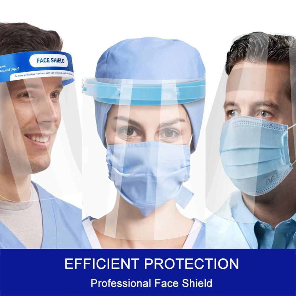 Protector Facial De Seguridad Anti Spitting Visiere Protection Work With All Protective Mask Face Hat Helmet Isolation Virus