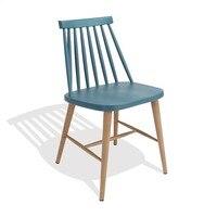 Cadeira camus metal turquesa