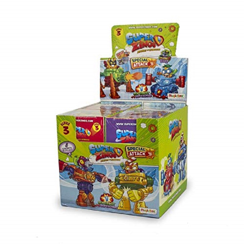 Superzings Series 3-cash Box With Comprehensive Collection 8's Robots And 8 Figures