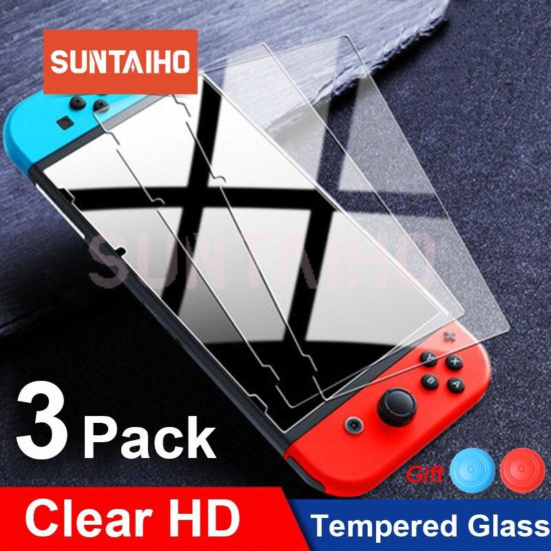 Защитное стекло для Nintendo Switch, 3 упаковки, закаленное стекло, Защита экрана для Nintendos Switch NS, стеклянные аксессуары, пленка для экрана