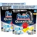 Finish Quantum Max spülmittel 116 kapseln 58x2 lemon neue Modus