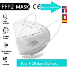 1-100 шт FFP2 маска одобренный CE защитная маска 5 Слои 95% фильтр респиратора с ffp2mask одноразовые маски для лица, рта mascarillas