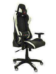 Fotel gamingowy z mechanizmem rocker, regulowana wysokość i ramiona możliwość przyciemniania w zestawie-poduszka siedziska i oparcia
