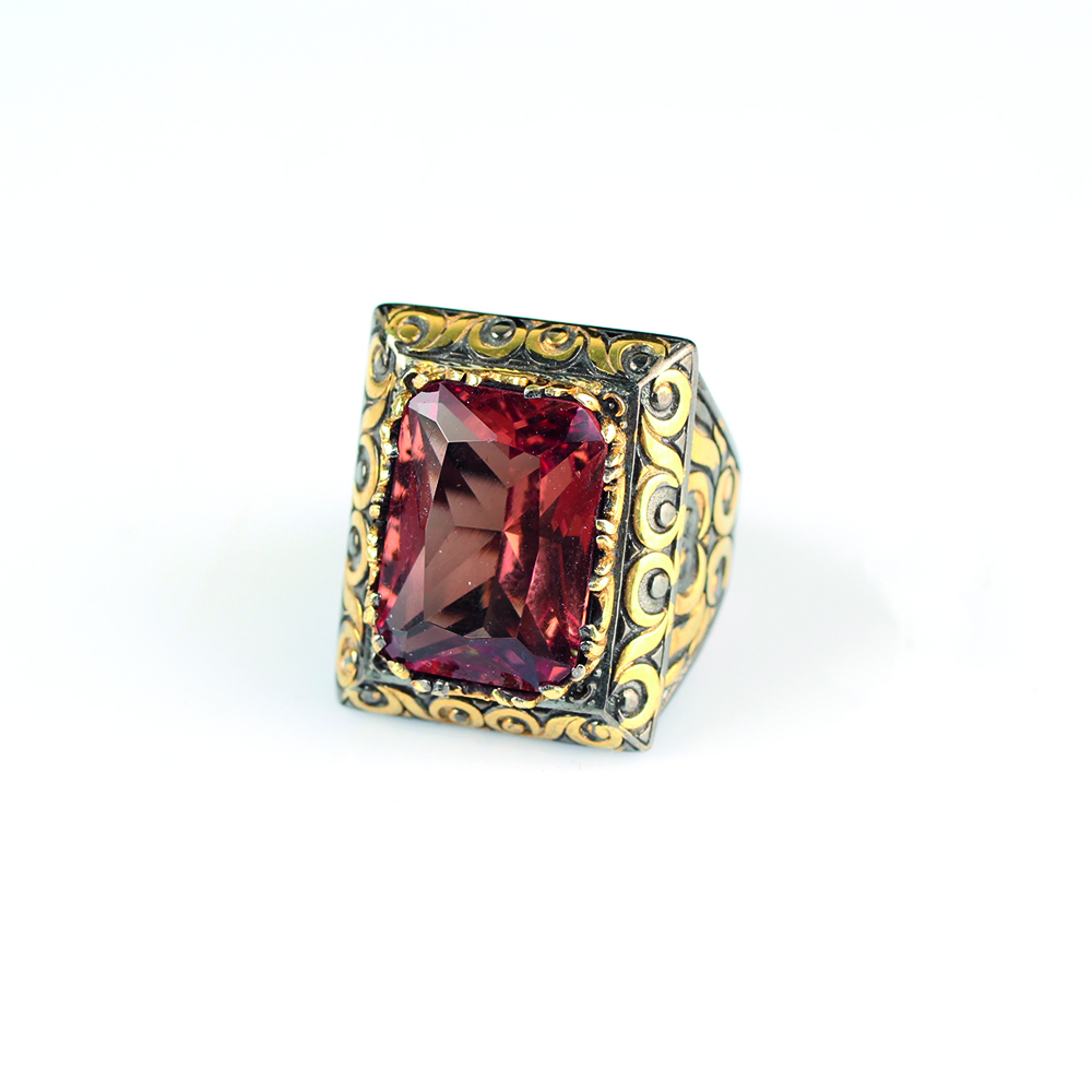 Мужское серебряное кольцо Zultanite ручной работы, мужское серебряное кольцо 925 пробы, кольцо Zultanite, Серебряное прямоугольное кольцо Zultanit