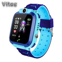 2019 Q12 Multi-function Waterproof Smart Watch With GPS Location Childrens SIM Card for IOS Android Phone Kids Gift