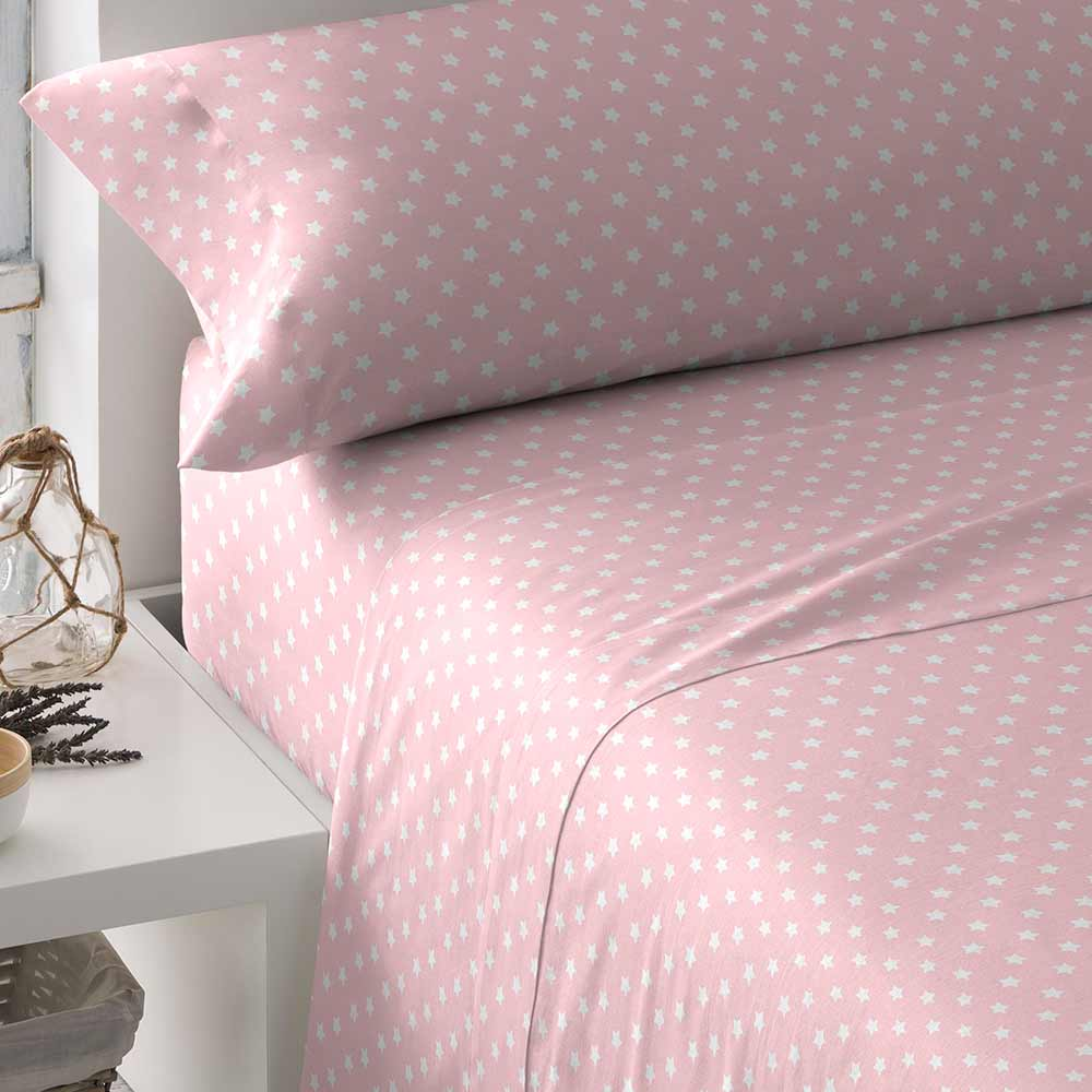 PimpamTex - Juego de Sábanas Estampadas, 3 piezas para cama. Medidas 90, 105, 135, 150 o 180. Ropa para cama de polialgodón