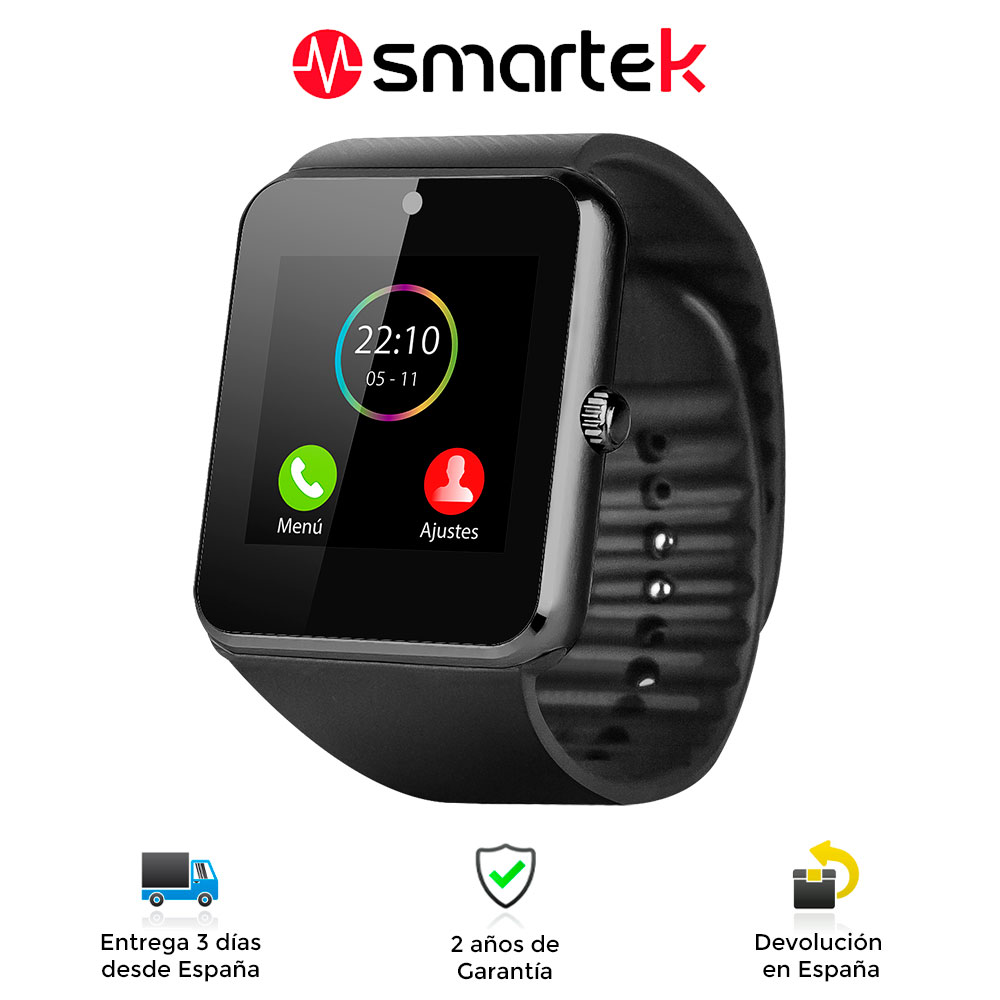 Smartwatch Smartek SW-832, wristwatch Bluetooth, smart watch with Sim MicroSD, watch for Android and IOS image