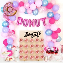Wayfun Donut Wall Holder Stand Doughnut Tableware Happy 1st Birthday Party Decoration Candy Bar Baby Shower Donut Party Supplies