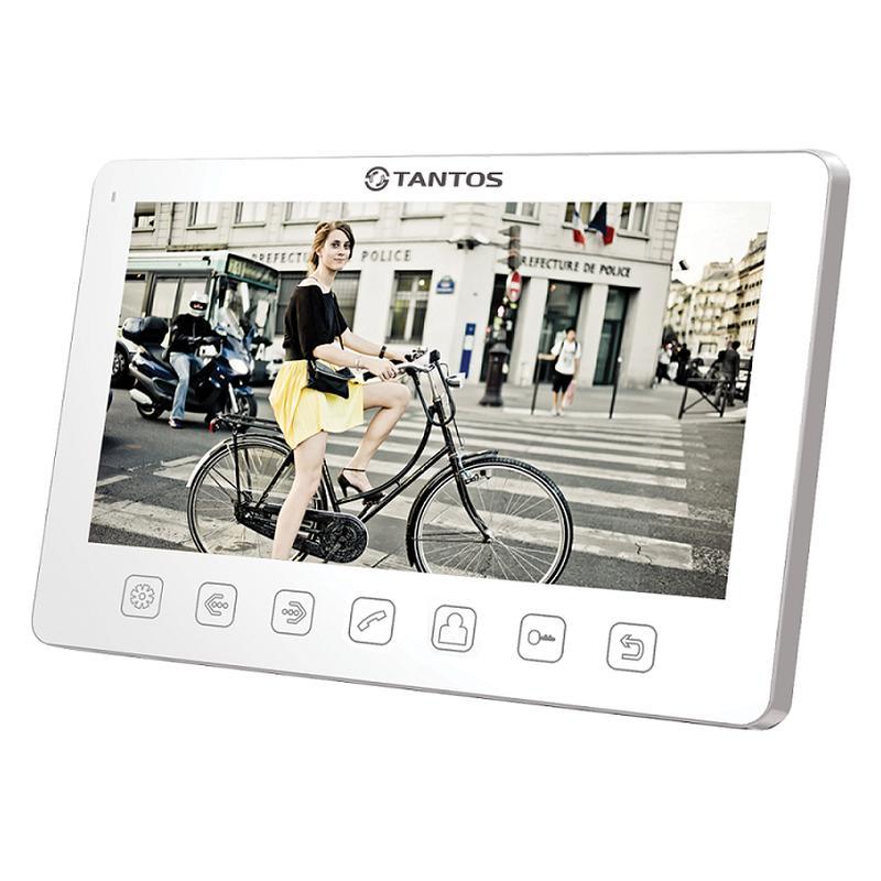 """Видеодомофон Tantos Amelie Slim. Экран 7"""", CVBS(PAL), до 2 панелей, до 2 камер, до 4 мониторов, толщина корпуса 17мм, внешний БП"""