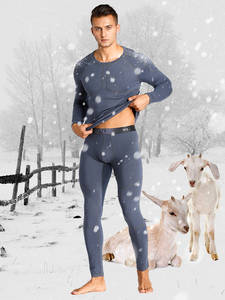 Thermal-Underwear Long-Johns Warm Winter Cashmere with Soft-Tender Comfortable Mens